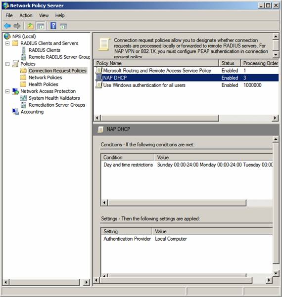 Using Group Policy Filtering to Create a NAP DHCP Enforcement Policy