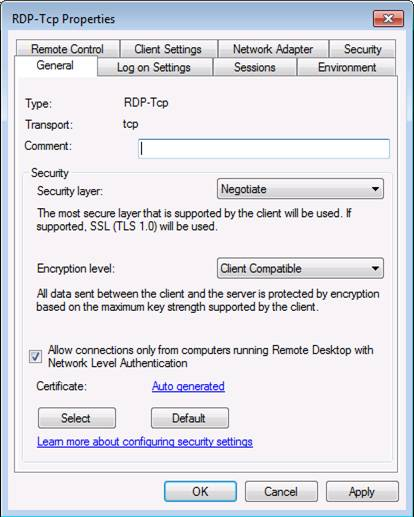 Securing remote desktop services in windows server 2008 r2 techgenix figure 1 yadclub Images