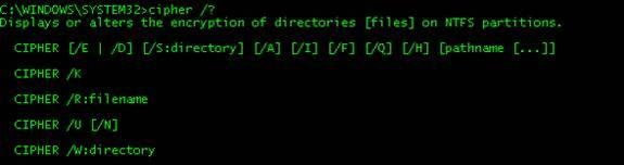 Wipe your Deleted Data Away: Using cipher exe