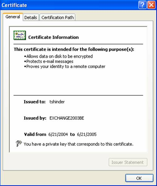 Using Client Certificate Authentication with IIS 6.0 Web Sites
