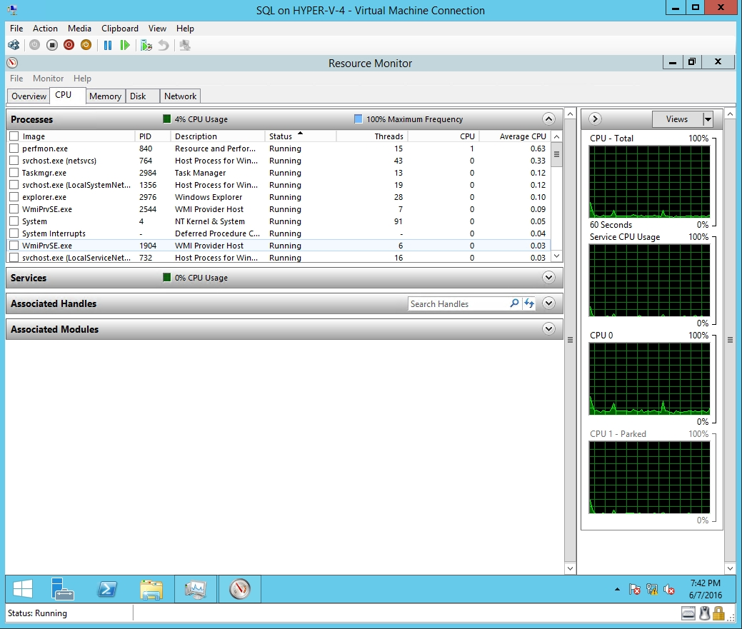 This virtual machine believes that it has two CPUs to work with.