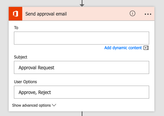 Set up the approval email