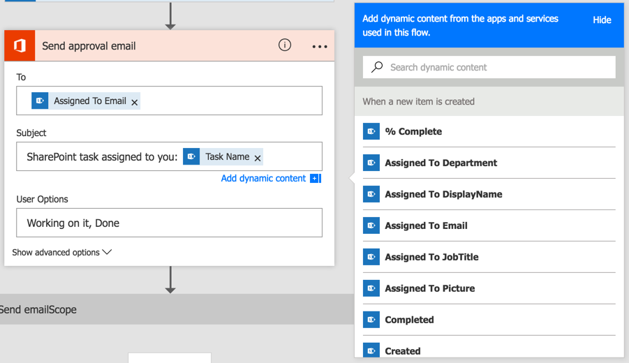 Add dynamic content to the approval email