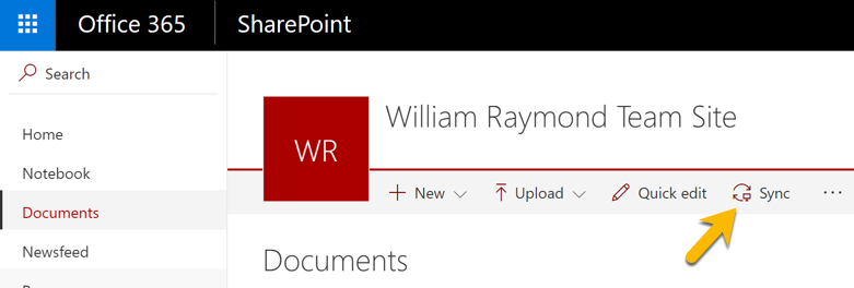 SharePoint sync for Windows computers.
