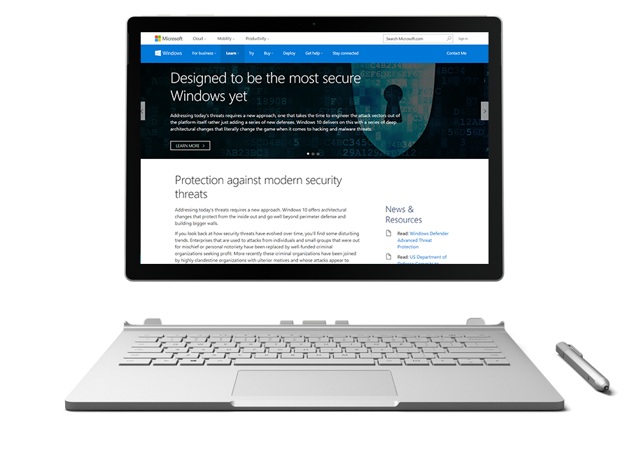 workstation security with Windows 10