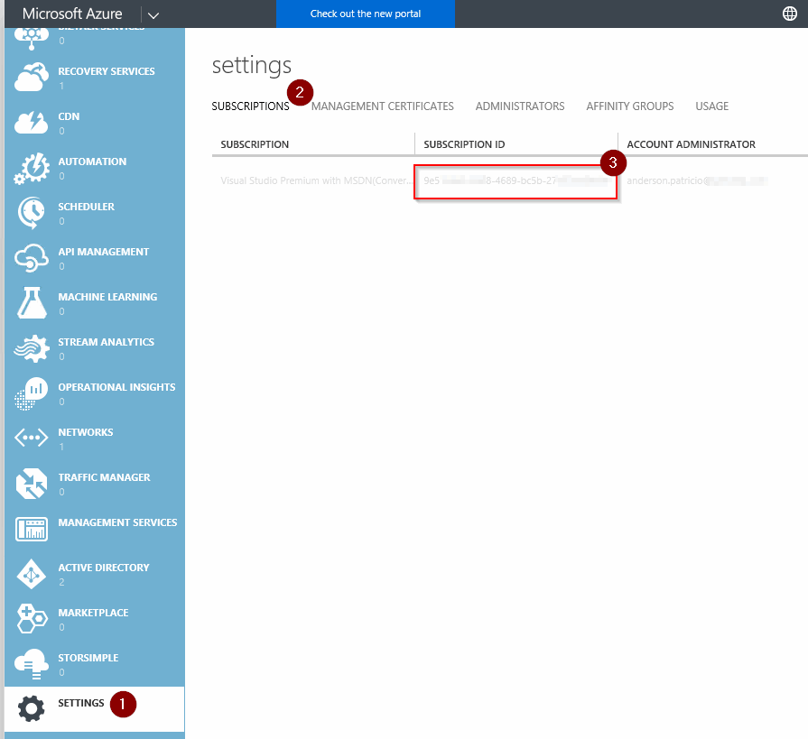 Get Azure subscription ID