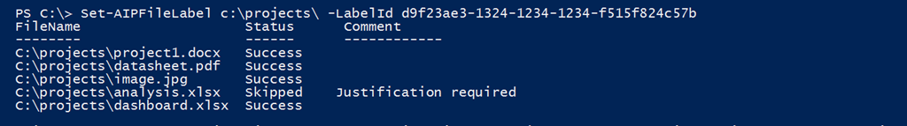 PowerShell cmdlets for Azure Information Protection