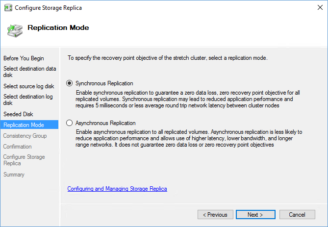 Special about Storage Replica in Windows Server 2016