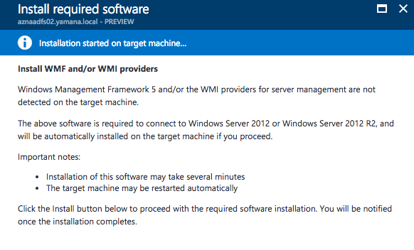 Install required software on Windows Server 12 or Windows Server 2012 R2