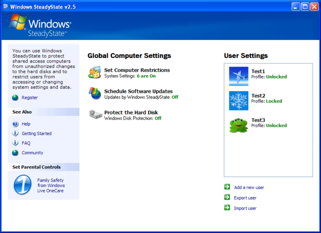 Windows SteadyState kiosk solution in Windows XP