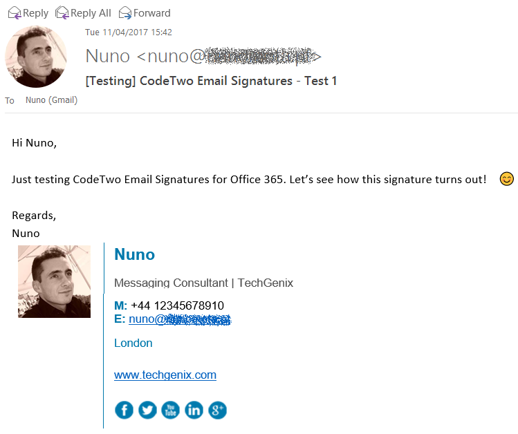 CodeTwo Email Signatures