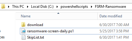 PowerShell script which is used to split the extension list to multiple files