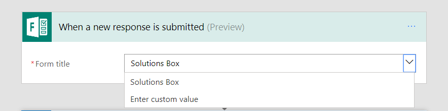 Select the form