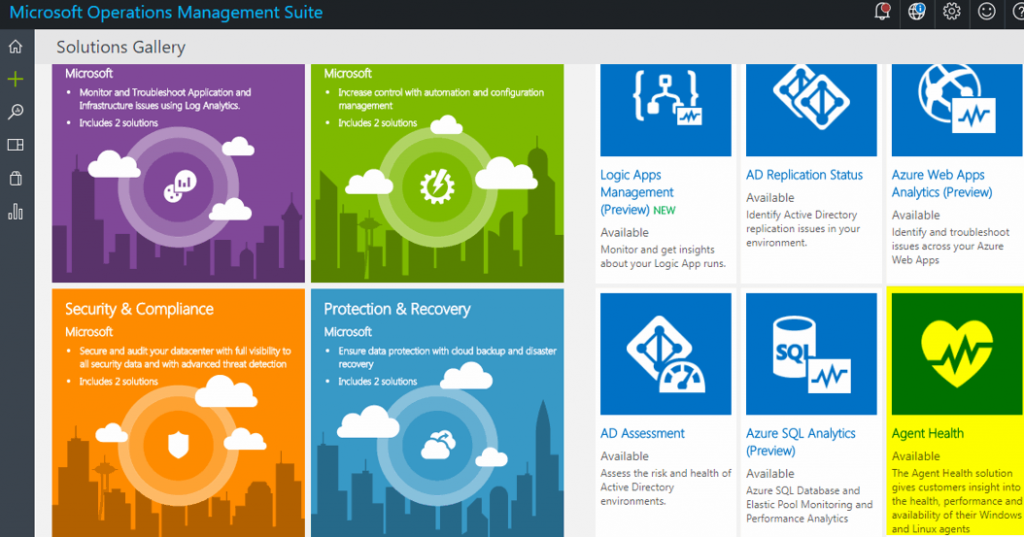 Microsoft OMS Solutions Gallery