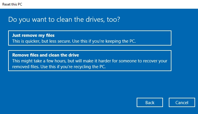 Windows 10 Recovery