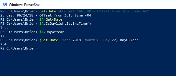 dates in PowerShell