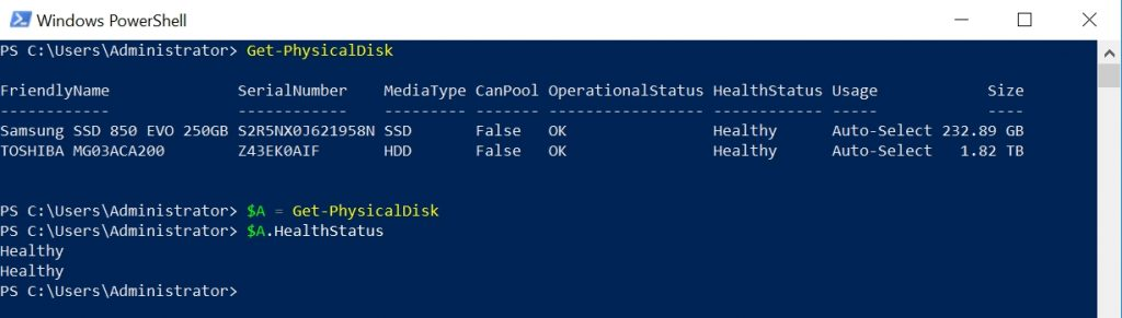 Mapping PowerShell commands