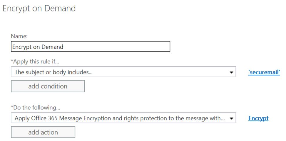 setup your mail encryption rule