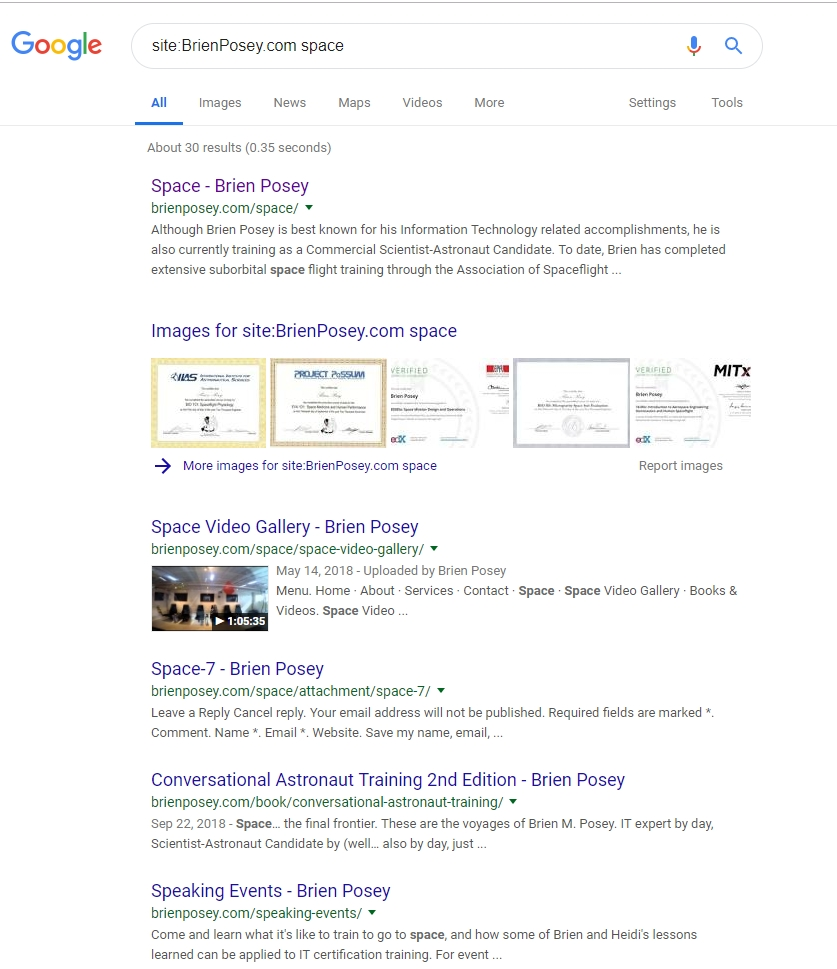 Google Search as a security tool