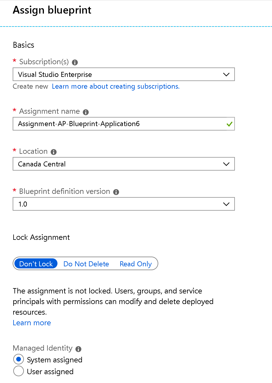 Azure deployments