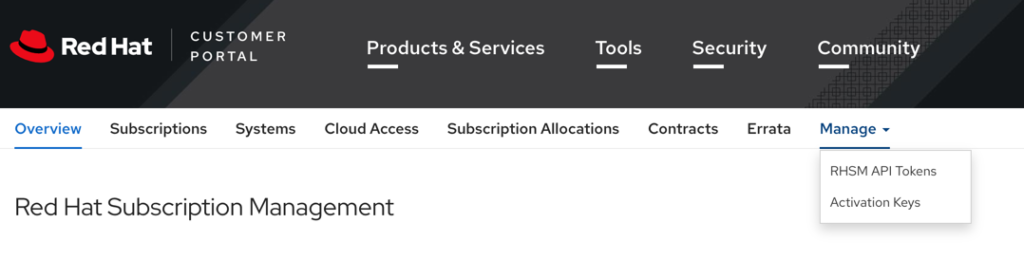 Red Hat Subscription Management
