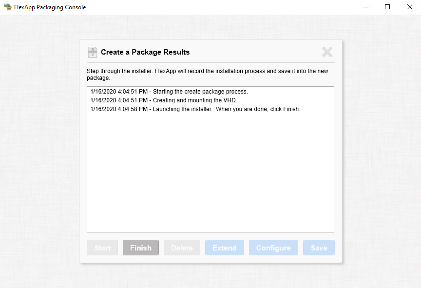 Step 4 of creating a package using FlexApp