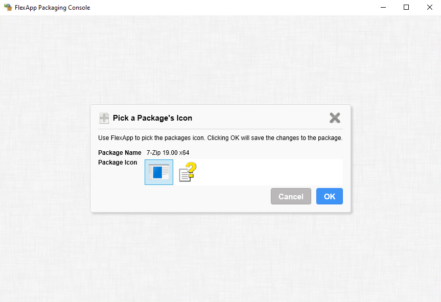Step 6 of creating a package using FlexApp