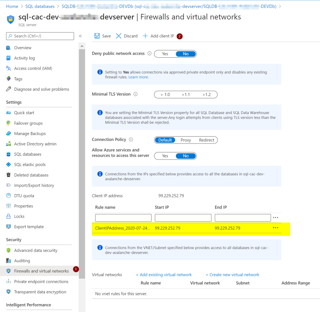 connect Azure SQL server