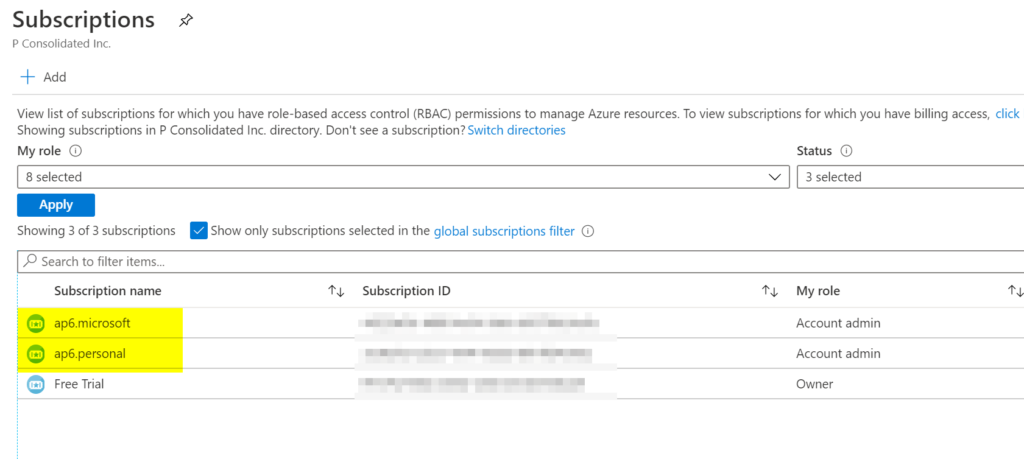 rename your Azure subscriptions