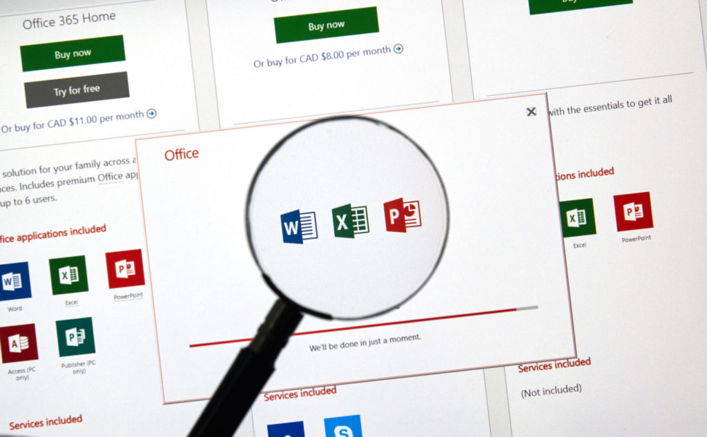 Microsoft 365 or Office 2019