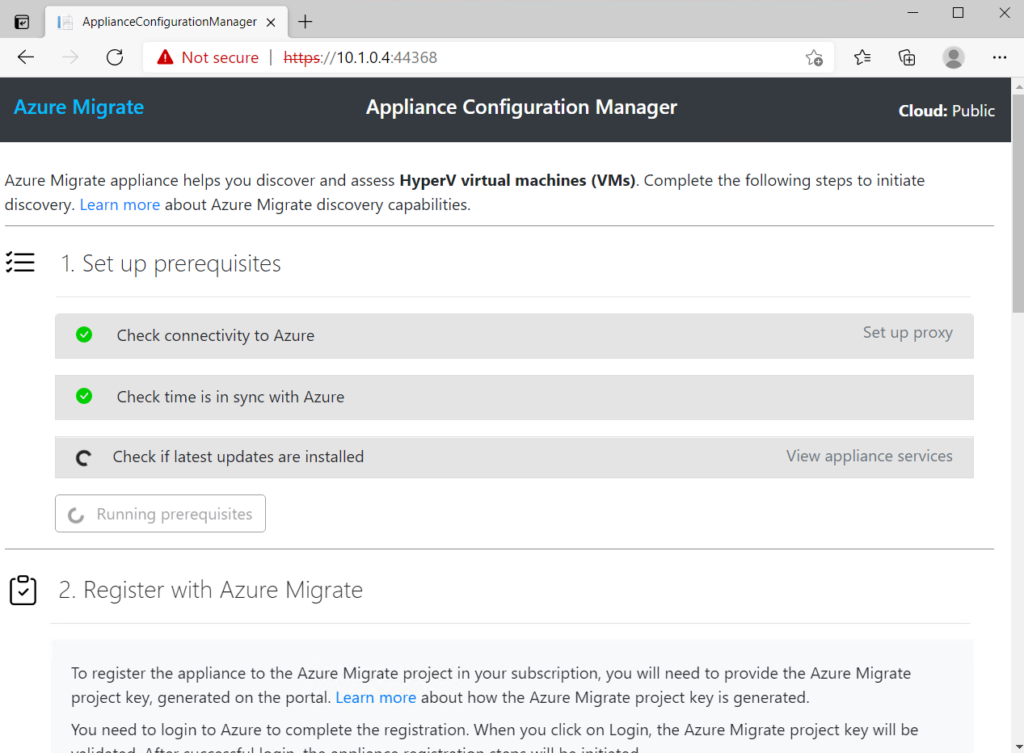 Azure Migrate discover